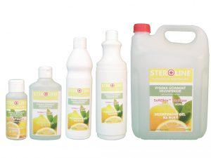 STEROLINE dezinfekčný gél na ruky Lemon Twist