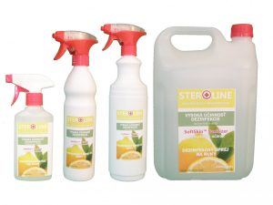 STEROLINE dezinfekčný prostriedok na ruky Lemon Twist
